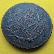 1816 Ein kreuzer (krajcár) réz érme