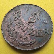 1816 1/2 kreuzer (krajcár) réz érme