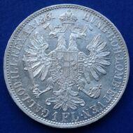 1861 A Ferenc József 1 florin ezüst érme