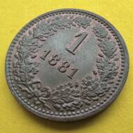 1881 1 krajcár, ein kreuzer XF érme