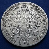 1883 1 Florin Ferencz József ezüst érme