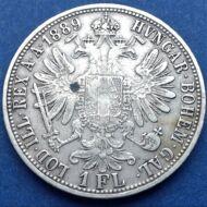 1889 1 Florin Ferencz József ezüst érme