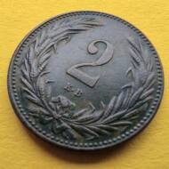 1895 2 fillér VF érme