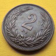 1915 2 fillér XF érme