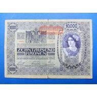 1918 10000 korona bankjegy Numizmatika - bankjegyek