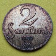 1932 2 Santimi Lettország
