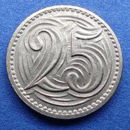 1933 25 Haleru Csehszlovákia