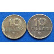 1946-47 10 Fillér réz érme pár VF