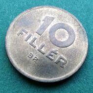 1950 10 fillér citrom réz érme verdefényes