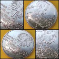 1974 NSZK ezüst emlék 5 márka érme D verdejel Immanuel Kant