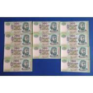 2004 200 forint FB 11 db sorszámkövető aUNC-UNC bankjegy