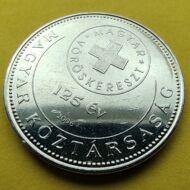 2006 50 forint Magyar vöröskereszt verdefényes emlékérme rollniból