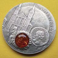 2010 Niue Szigetek (Új-Zéland) 1 Dollár Amber road Szombathely borostyán út ezüst érme Numizmatika - Érmék, érme