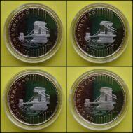 2013-14-15-16 200 forint PP érme sor forgalomba szánt rollniból kapszulában