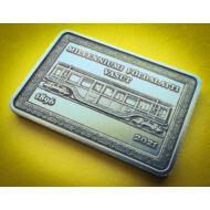 2021 2000 forint 125 éves Millenniumi földalatti vasút emlékérme