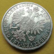 1859 1 Florin Ferencz József ezüst érme