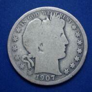 1907 Barber Half Dollar patinás amerikai ezüst érme 12,5 g 0,900