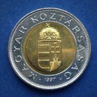 1997 100 forint verdefényes érme rollniból