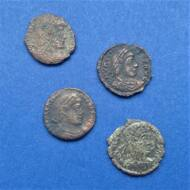 Római érme lot 4db érme a IV. századból