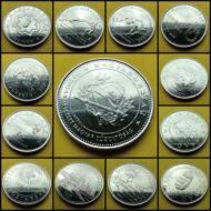 2004-2020 50 forint aUNC, verdefényes emlékérme sor 13 db egyben, kapszulában. Legújabb Tűzoltós is!