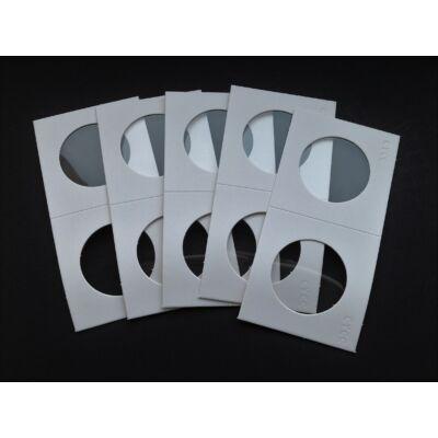 Érme tartó papír tasak, átlátszó ablakos 31,5 mm