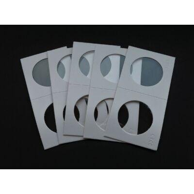 Érme tartó papír tasak, átlátszó ablakos 33 mm