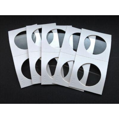 Érme tartó papír tasak, átlátszó ablakos 35 mm