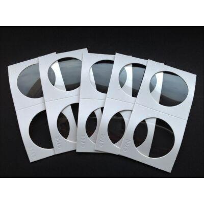 Érme tartó papír tasak, átlátszó ablakos 37 mm