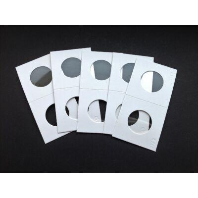 Érme tartó papír tasak, átlátszó ablakos 26,5 mm
