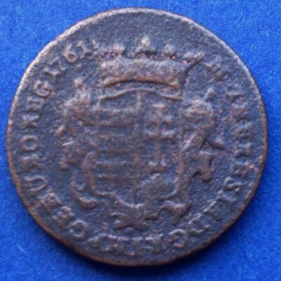 1761 Mária Terézia réz dénár