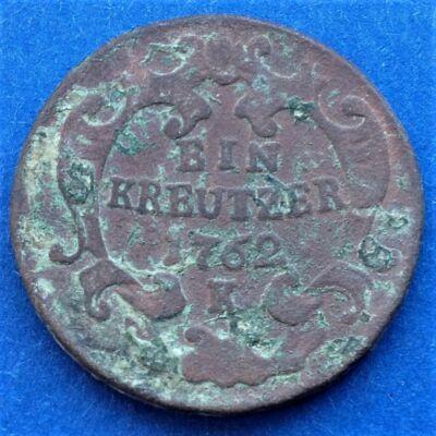 1762 Ein kreutzer K (1 krajcár)