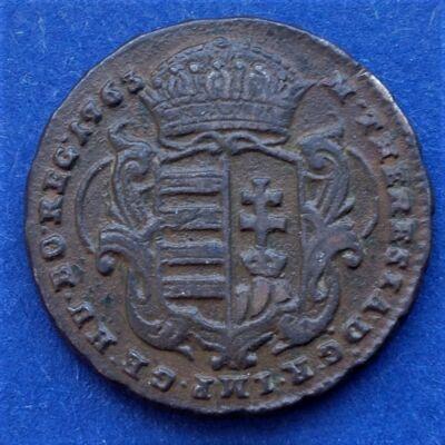 1763 Mária Terézia réz dénár kiváló minőségben