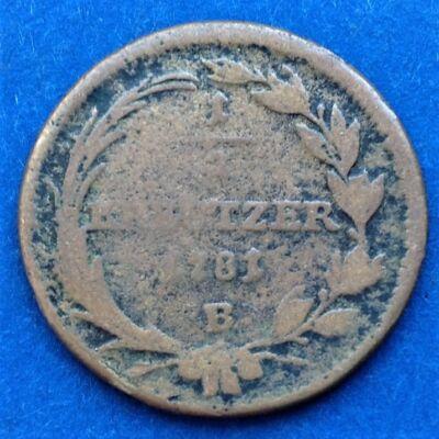 1781 1/2 kreutzer (krajcár)
