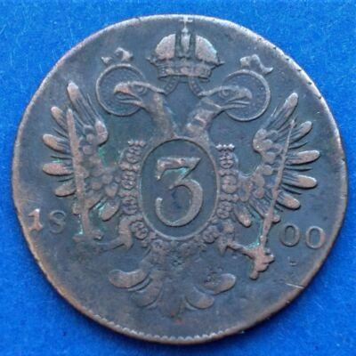 1800 3 kreuzer (krajcár)