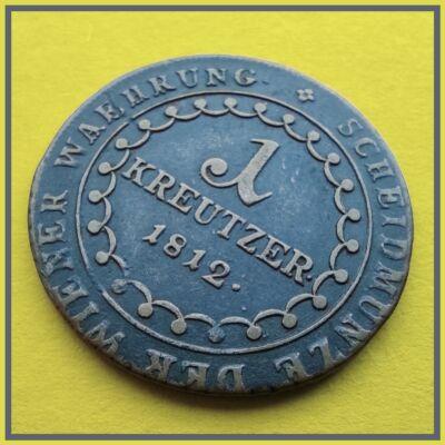 1812 1 kreutzer (krajcár) réz érme I. Ferenc