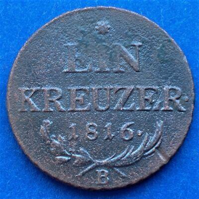 1816 Ein kreuzer (1 krajcár)