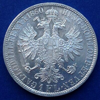 1860 A Ferenc József 1 florin ezüst érme