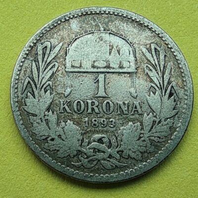1893 1 korona ezüst érme