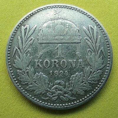 1894 1 korona ezüst érme