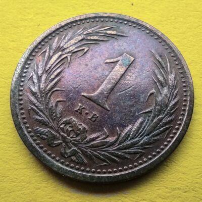 1895 1 fillér VF érme