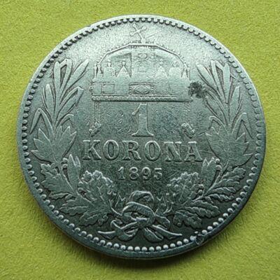 1895 1 korona ezüst érme