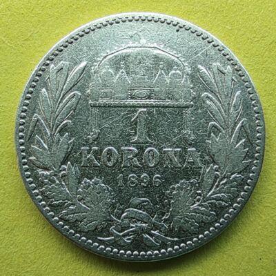 1896 1 korona ezüst érme