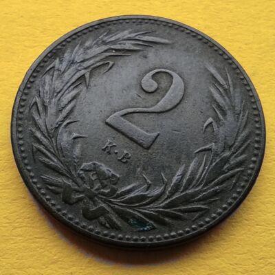 1896 2 fillér VF érme
