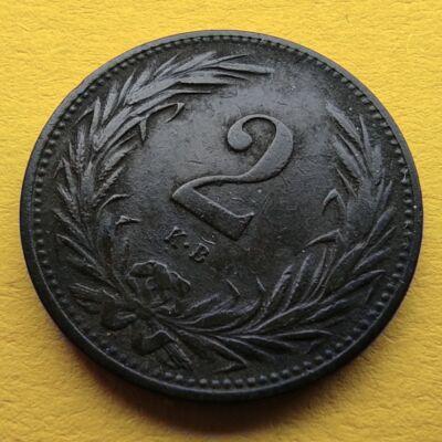 1899 2 fillér VF érme