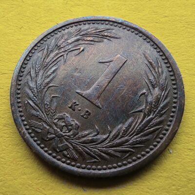 1900 1 fillér VF érme