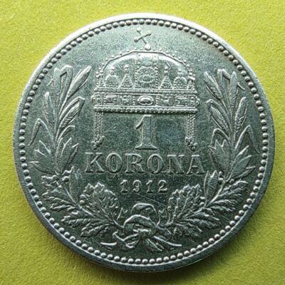 1912 1 korona ezüst érme