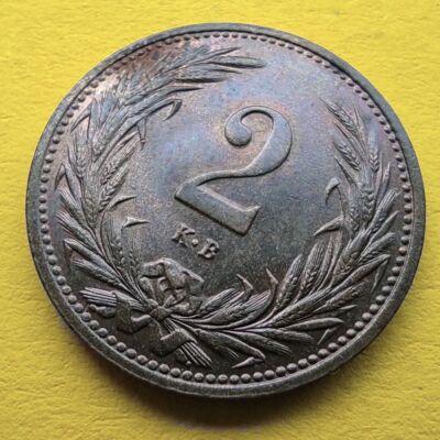 1914 2 fillér XF érme