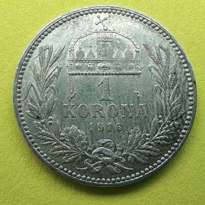 1916 1 korona ezüst érme