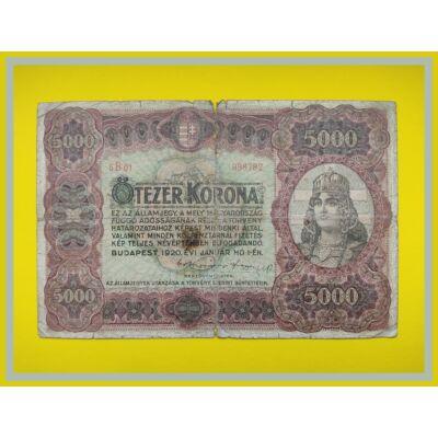 1920 5000 korona államjegy