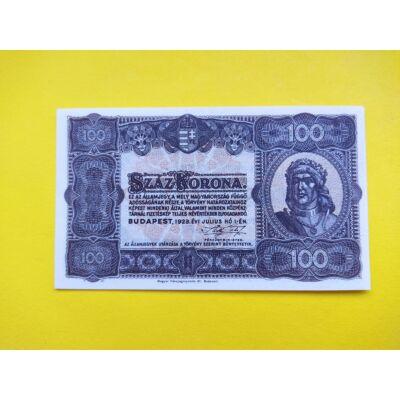 1923 100 korona államjegy XF papírpénz
